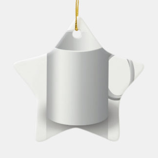Tasse 106White _rasterized Keramik Ornament