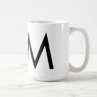 """Tasse Futura Typografie-""""M"""""""
