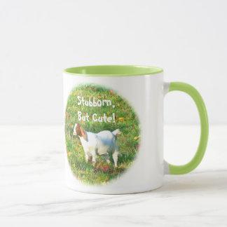 """Tasse """" störrisch aber niedlich"""" (Ziegen-Foto)"""