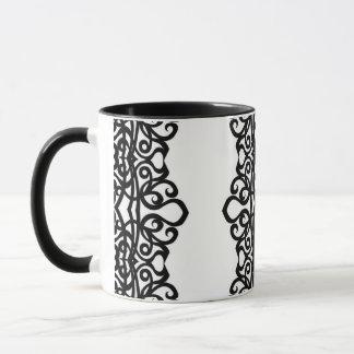 Tassen-Spitze-Stickerei-Entwurf Tasse