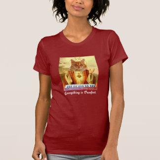Tastatur Katzen-Kirchendamen-Shirt T-Shirt