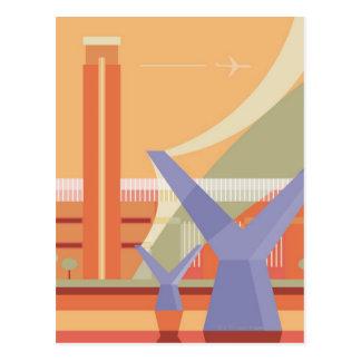 Tate Galerie und Jahrtausend-Brücke Postkarte