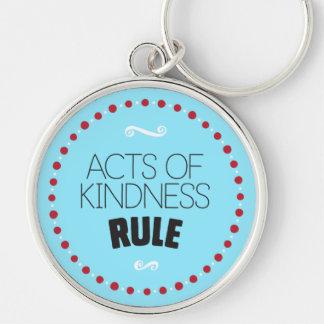 Taten der Güte-Regel - Blau Schlüsselanhänger
