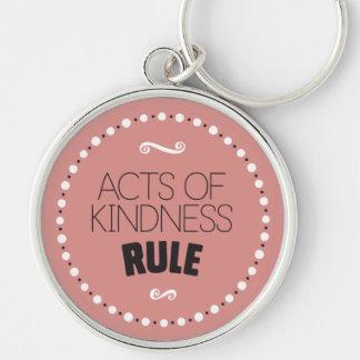 Taten der Güte-Regel - Editable Hintergrund Schlüsselanhänger