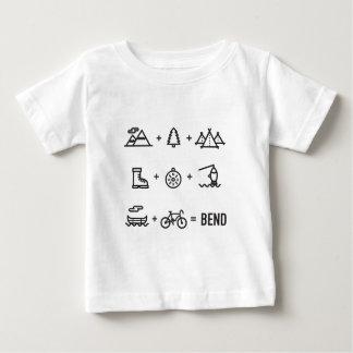 Tätigkeits-im Freiengleichung Biegungs-Oregons Baby T-shirt