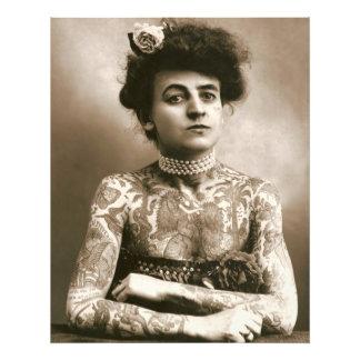 Tätowiert mit Perlen-viktorianischer Dame Framable Kunst Photo