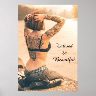 Tätowiertes und schönes Plakat