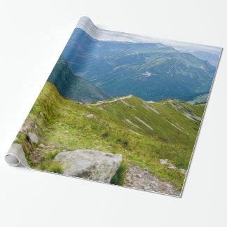 Tatra Gebirgsridge-LandschaftsFoto Geschenkpapier