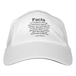Tatsachen sind störrische Sachen. Widerstehen Sie Headsweats Kappe