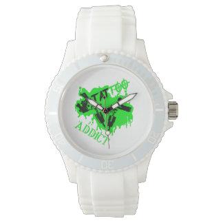 Tattoo Süchtig Damen Armbanduhr