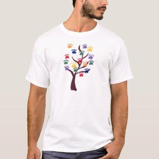 Tatzen-Druck-Baum-Entwurf - Mehrfarben T-Shirt