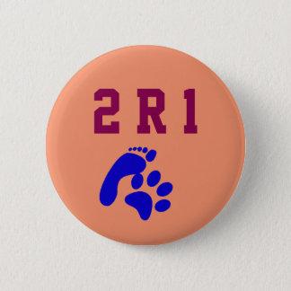 Tatzen-Druck-menschlicher Fuß-Druck 2 R 1 Hunde Runder Button 5,7 Cm