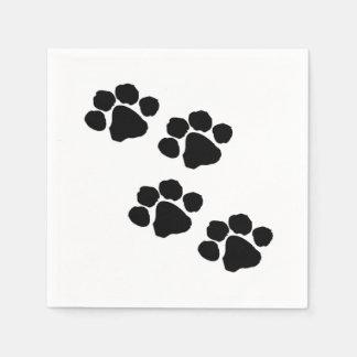 Tatzen-Drucke für Tierliebhaber Papierserviette