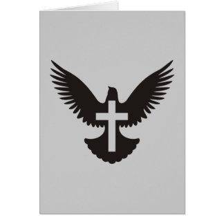 Taube mit Kreuz Mitteilungskarte