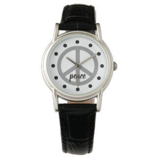 Tauben-graues Friedenssymbol personalisiert Armbanduhr