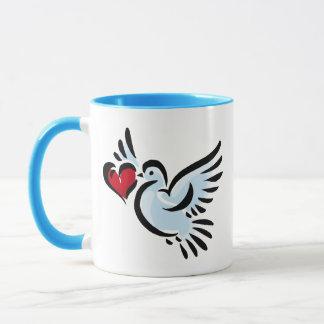 Tauben-Liebe Tasse