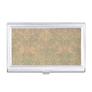 Tauben-und Rosen-Muster Williams Morris Visitenkarten-Schatullen