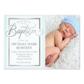 Taufe-Einladung, Taufe, Jungen-Taufe Karte