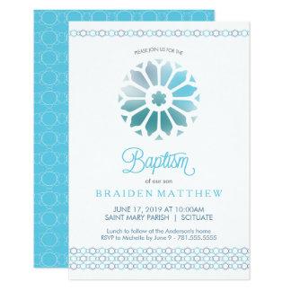Taufe, Taufe-Einladung, Jungen laden ein 8,9 X 12,7 Cm Einladungskarte