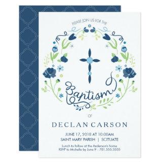 Taufe, Taufe-Einladungs-Jungen laden Karte ein 8,9 X 12,7 Cm Einladungskarte