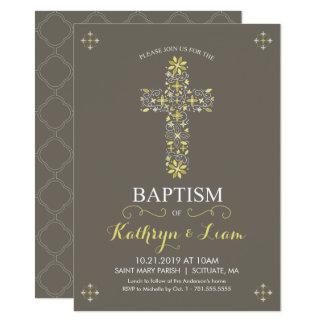 Taufe, Taufe Invitatio, Mädchen und oder Junge 11,4 X 15,9 Cm Einladungskarte
