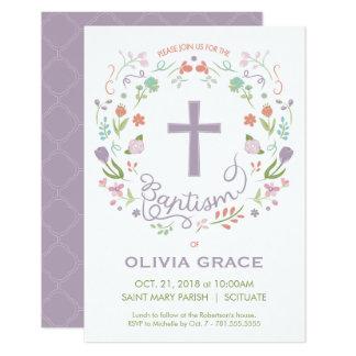 Taufe, Taufe laden für Mädchen ein - fertigen Sie Karte