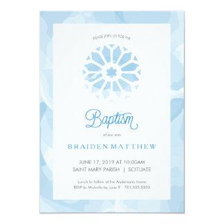 Taufe, Taufeinladung, Jungen laden ein Karte