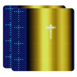 Taufe-Taufeinladung Quadratische 13,3 Cm Einladungskarte