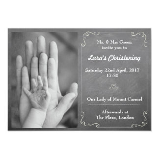 Taufe und Taufe-Einladung Karte