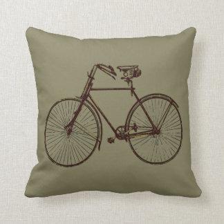 Taupe-Brown-Fahrradfahrrad Wurfskissen Kissen