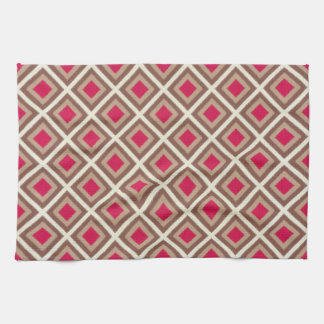 Taupe, heller Taupe, Pink Ikat Diamanten STaylor Handtuch