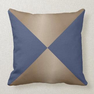 Taupe-und Blau-Dreieck-moderner Druck Kissen