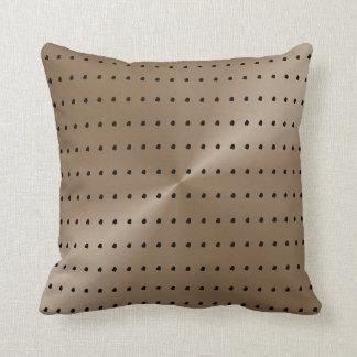 Taupe-und Schwarz-modernes Tupfen-Muster Kissen