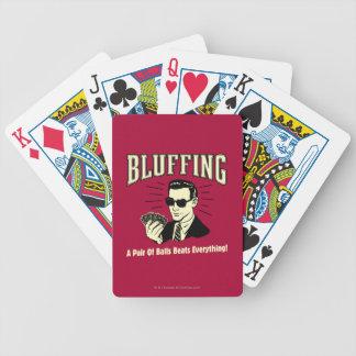 Täuschen: Paar-Ball-Schläge alles Pokerkarten