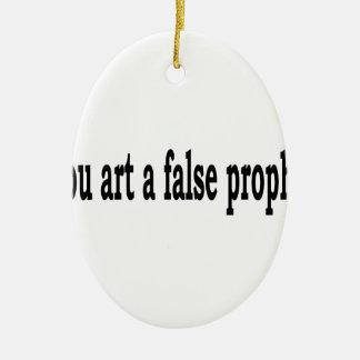 Tausend-Kunst ein falscher Prophet Ovales Keramik Ornament