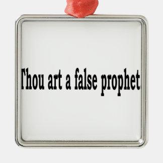 Tausend-Kunst ein falscher Prophet Quadratisches Silberfarbenes Ornament