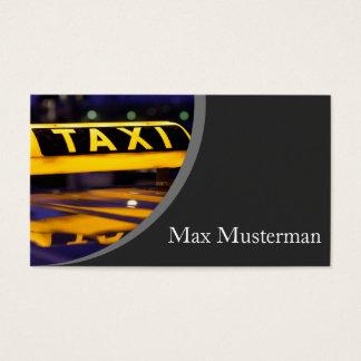 Taxifahrer Visitenkarten
