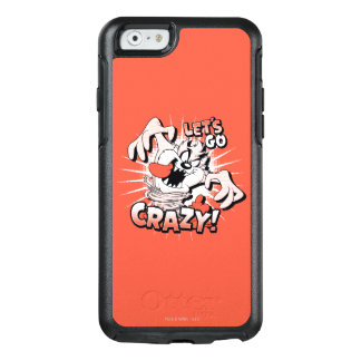 "TAZ™ ""ließ uns verrückt gehen!"" Halbtonbild OtterBox iPhone 6/6s Hülle"