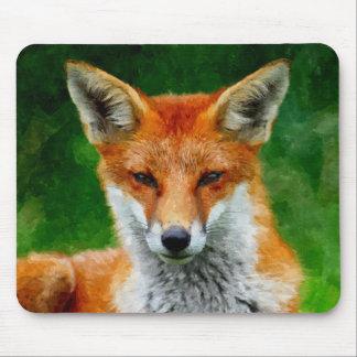 TCWC - Roter Fox-Aquarell-Malerei Mauspads