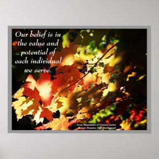 TDCJ Stunde Personal-Entwicklungs-Plakat - besonde Poster