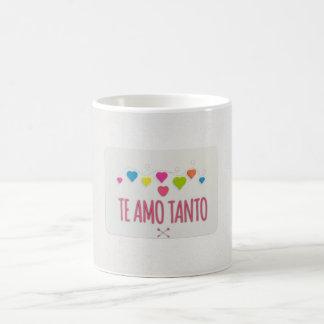 """""""Te Amo Tanto"""" mit Herzen auf Kaffee-Tasse Tasse"""