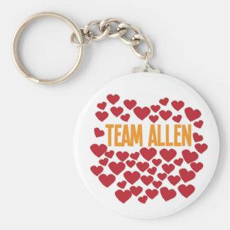 Team Allen Standard Runder Schlüsselanhänger