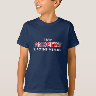 Team-Andrews-Lebenszeit-Mitgliedst-stück T-Shirt