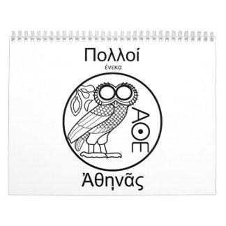 Team Athene (griechischer Schriftart) Abreißkalender