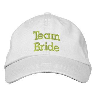 Team-Braut gestickter Hut Baseballkappe