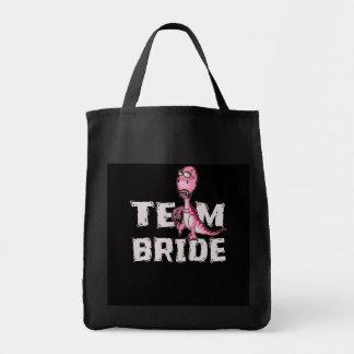 Team-Braut-Rosa-Dinosaurier-Brautparty Tragetasche