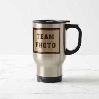 Team Foto und Dank ZUG ihr Name, Team, Jahr Edelstahl Thermotasse