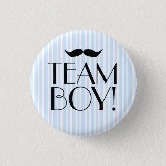 Team Junge-Baby Dusche Runder Button 3,2 Cm
