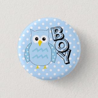 Team-Jungen-Eulen-Babyparty Runder Button 2,5 Cm