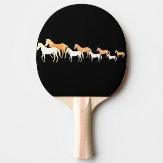 Team-Pferde Tischtennis Schläger